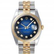 劳力士二手表回收价格多少劳力士116233-G-63203深蓝石渐变蓝盘手表?