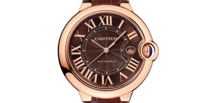 二手正品18k玫瑰金卡地亚蓝气球系列W6920037男款手表