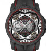 罗杰杜彼王者系列四摆轮游丝碳纤维腕表