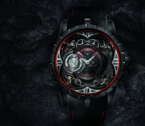 全黑的罗杰杜彼四游丝摆轮碳纤维腕表