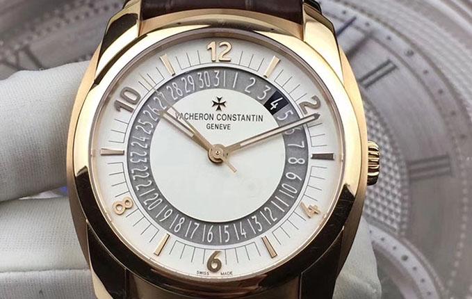 二手江诗丹顿奎德利系列86050/000R-I0P29男款18k玫瑰金自动机械手表